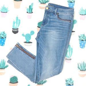 WHBM Ankle Zip Skimmer Jeans 10